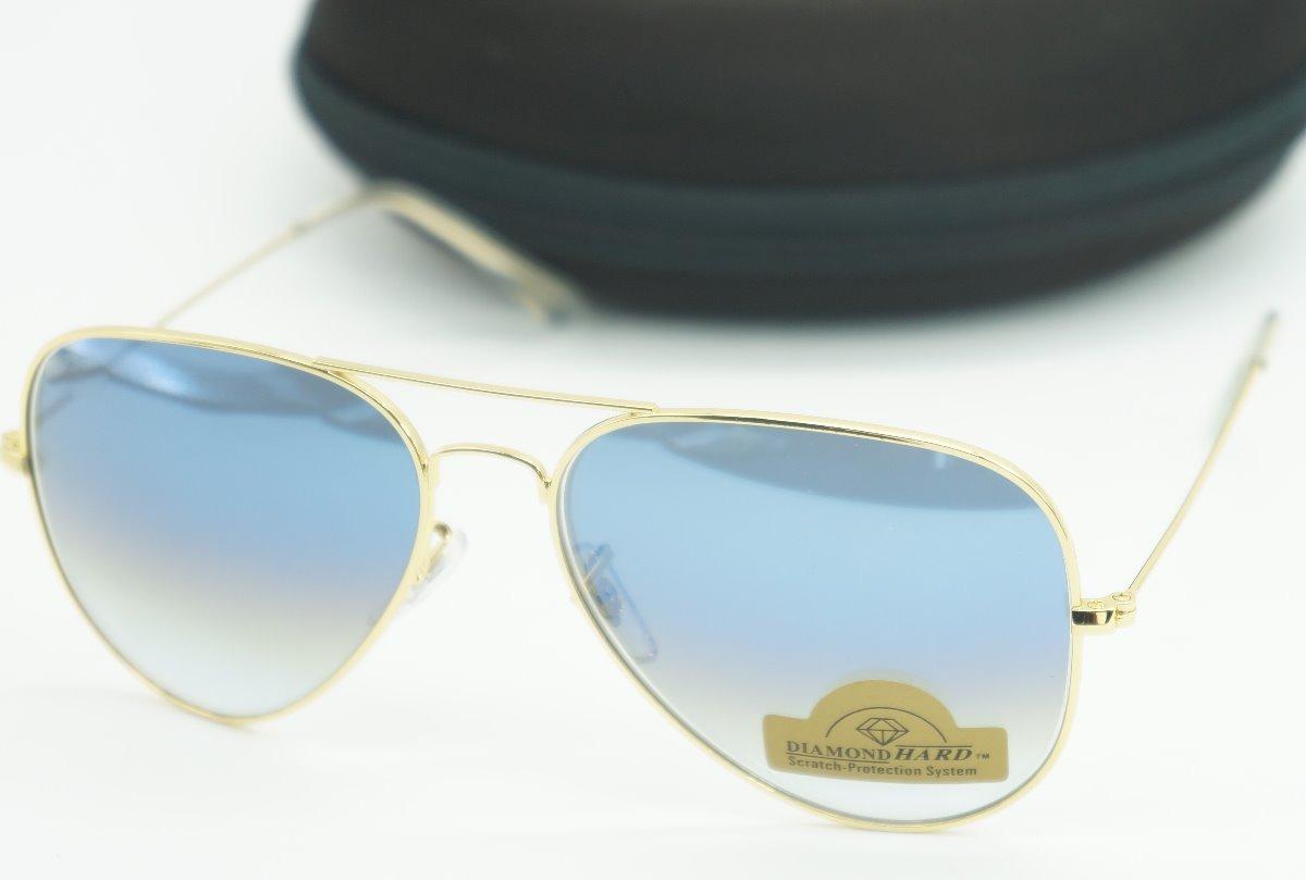 Aviador Azul Degrade Oculos De Sol Lente Cristal Proteçao Uv - R  55 ... aca2eea876