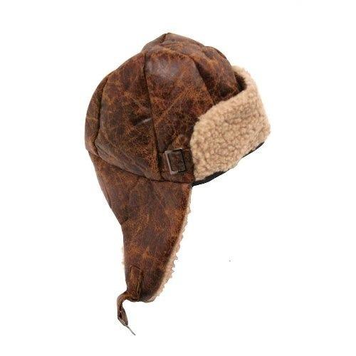 aviador piloto tapa sombrero adulto marrón con hebilla