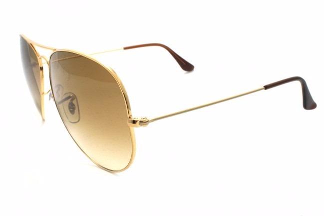 ... óculos rayban  aviador ray ban 3025 3026 dourado lente marrom original fb12220d78