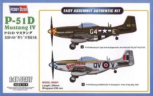 Aviao P-51d Mustang Iv - Hobbyboss - R$ 102,33 em Mercado Livre