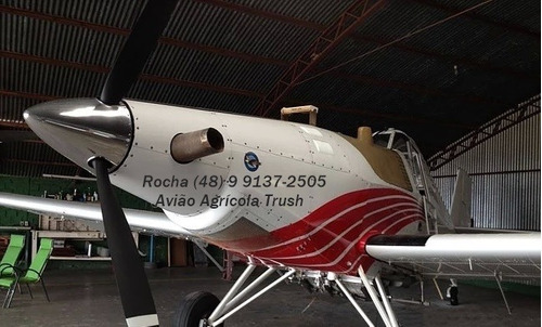 avião agrícola trush com tanque de 1.940l pulverizador