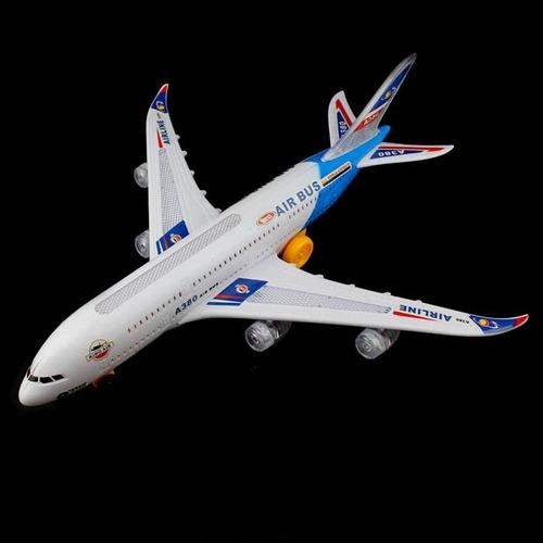 avião air bus brinquedo grande 35 cm luzes, som e movimentos
