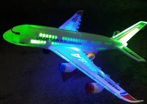 avião air line brinquedo grande luzes e som e movimento