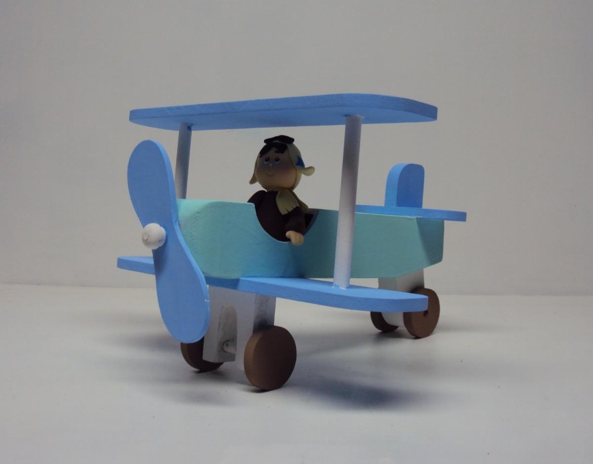 Avião De Madeira Mdf Urso Aviador Pequeno Principe 22 Cm - R$ 24,00 em Mercado Livre