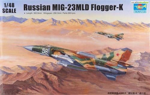 avião mig-23 mld flogger k kit trumpeter 1/48 tipo revell
