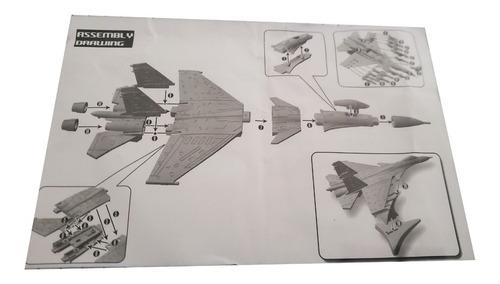 avião miniatura bloco de montar militar coleção