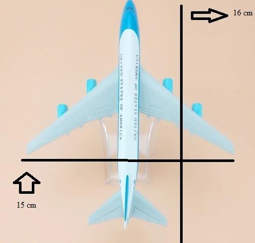 avião miniatura boeing 747 air force one eua em promoção!