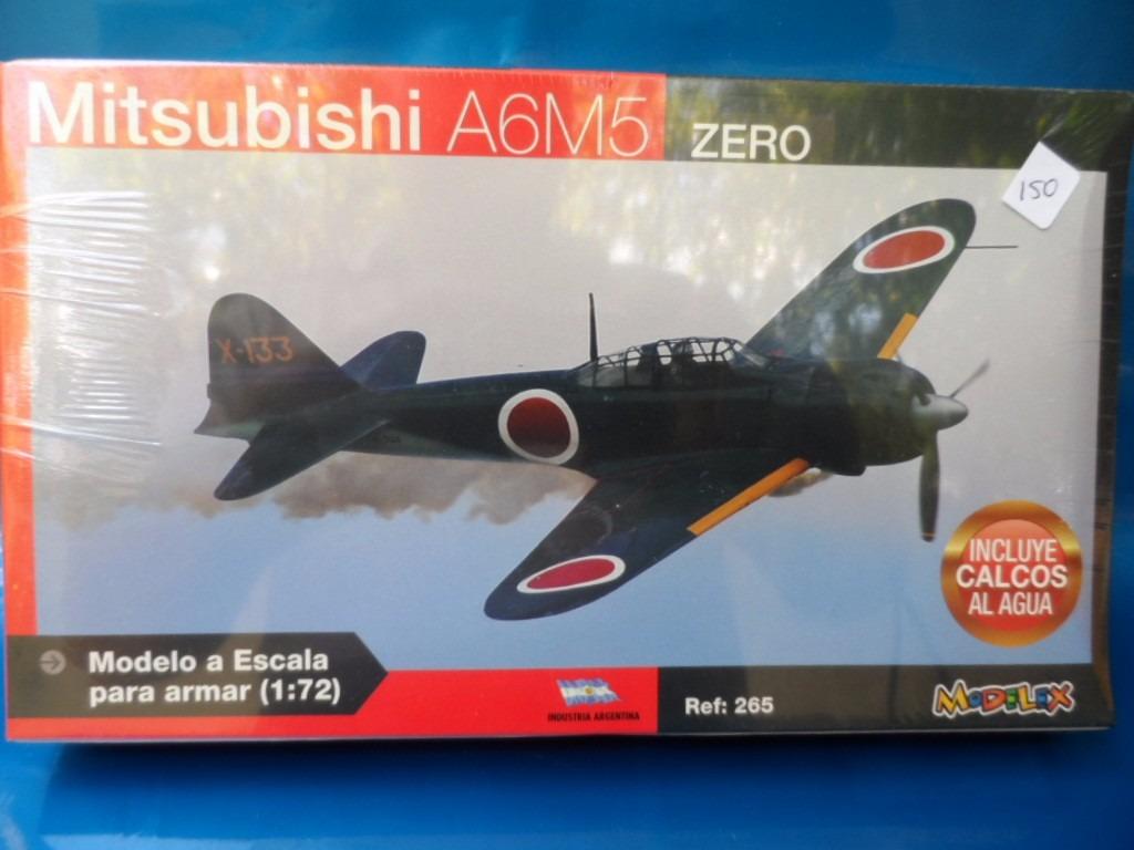 Avião Mitsubishi A6m5 Zero Para Montar Esc 1:72 Modelex