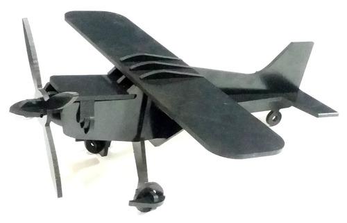 avião quebra cabeça 3d em plastico brinquedo resistente