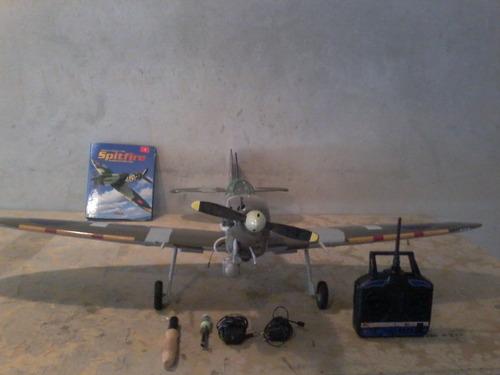 avião spitfire para aeromodelismo, radiocontrolado.