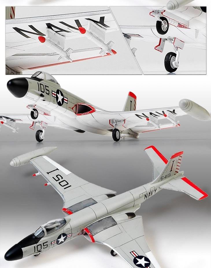 Avião Usn F2h-3 Banshee Vf-41 Black Aces Kit Academy 1/72