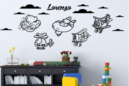 aviões quarto bebês meninos desenhos adesivos decorativos