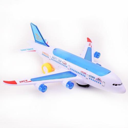 avión a friccion con luz y sonido