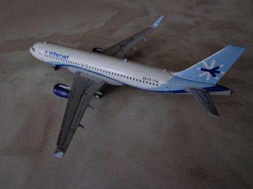 avion a320-200 de interjet en escala 1:400 marca gemini jets
