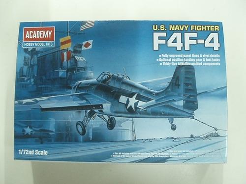 avion academy  p/armar  f4f-4 navy fighter  1/72  kit 12451