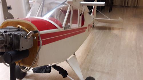 avión aeromodelismo 1/3 escala piper super cub twin 70cc