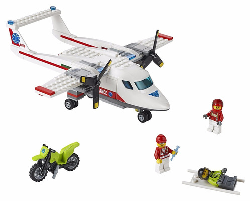 avión ambulancia - lego city