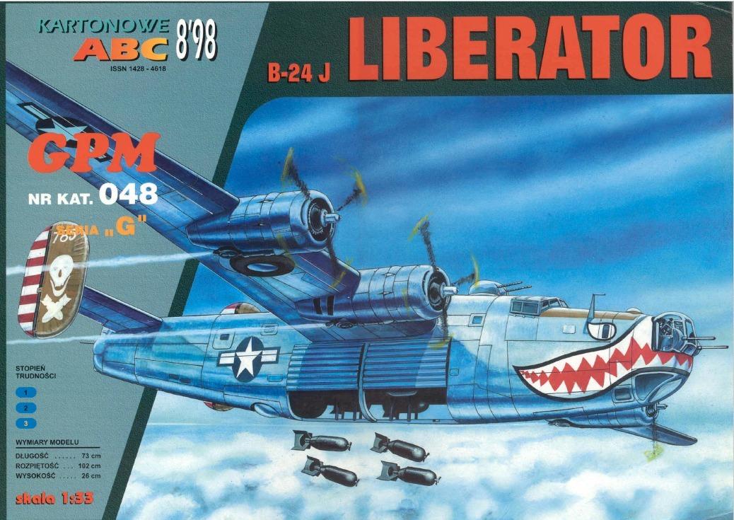 Avion B-24 Liberator (modelos De Papel Para Armar) - $ 39
