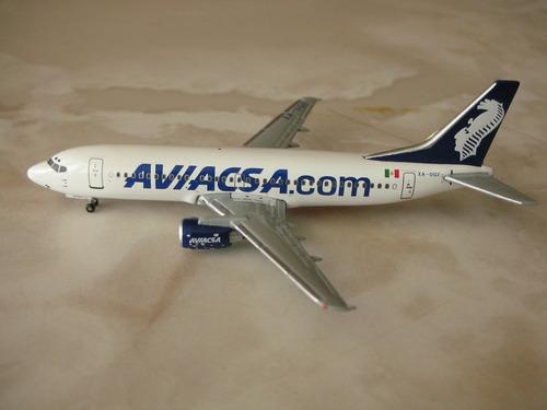 avion boeing 737-300 de aviacsa en escala 1:400 gemini jets