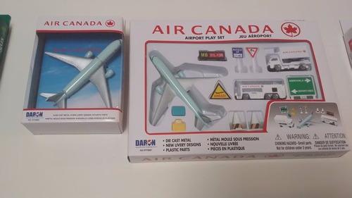 avion coleccionable set aeropuerto air canada 12 piezas