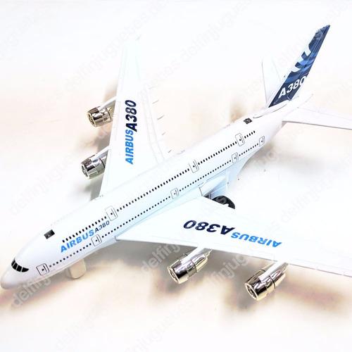 avión de colección airbus a380 metal a fricción luz sonido