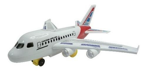 avion de juguete azul, blanco y rojo novicompu