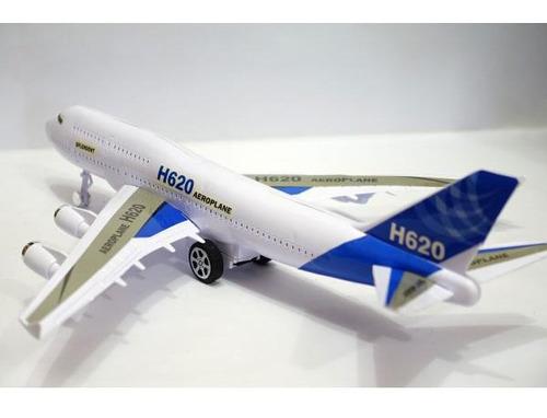 avión de juguete fricción luz y sonido niños h620