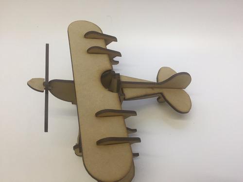avion de madera principito souvenir infantil vintage fibro