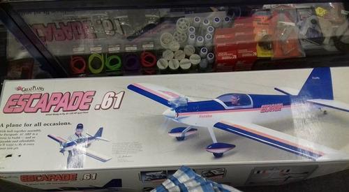 avión de radiocontrol, escapade 61, great planes, a.r.f.