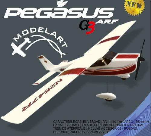 avion  entrenador pegasus c/electronica
