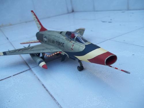 avion f 100 supersabre thunderbirds  esci 1/72 armado y pint