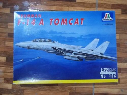 avion f 14 a tomcat 1/72 italeri armado y pintado