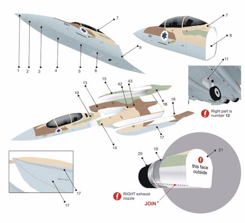 Avion Militar F-15k Slam Eagle Para Armar Papel Papercraft
