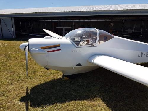avión motoplaneador falke