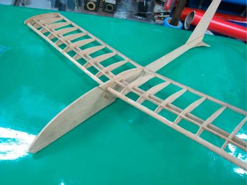 avion origone 2 p/ armar aeromodelismo escolar madera balsa