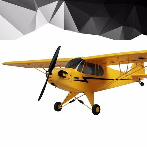 avión piper j2  radio control remoto 2 canales 80m de vuelo
