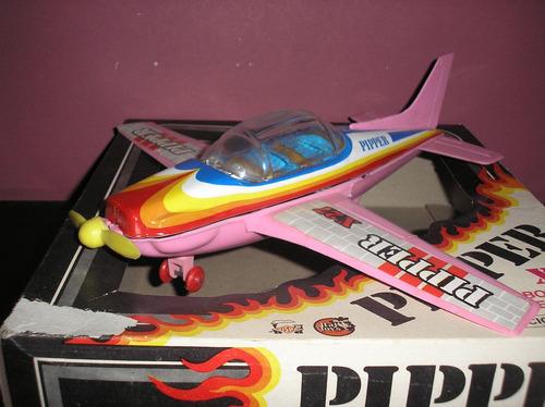avion pipper x 27 friccion decada 80 argentino- devoto toys