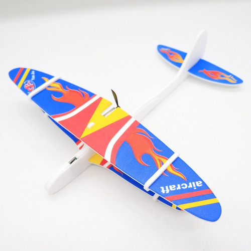 avión planeador con motor usb