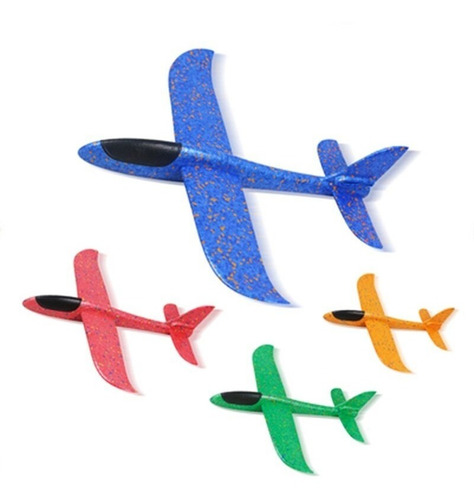 avión planeador plumavit 50x47cm con luces led / lhua store
