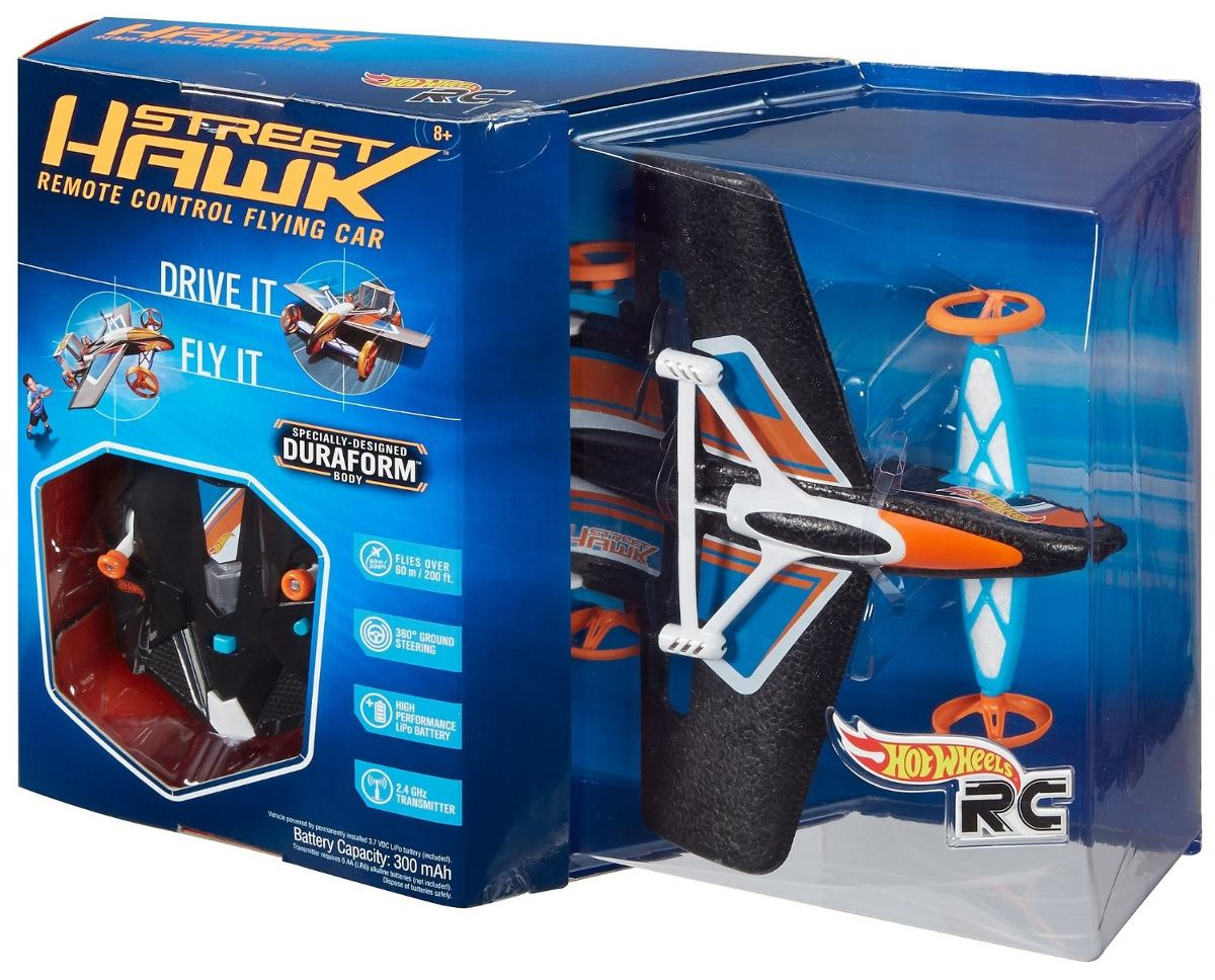 Avion rc hot wheels street hawk remote control flying car - Avion hot wheels ...