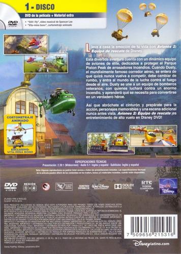 aviones 2 dos equipo de rescate disney pelicula dvd