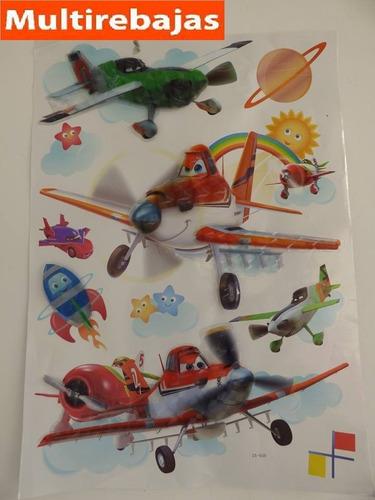 aviones stickers serie animada