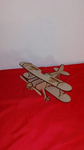 avioneta 3d laser rompecabezas armable decorativa