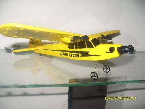 avioneta a control remoto piper cub j3 huale hl803 2ch