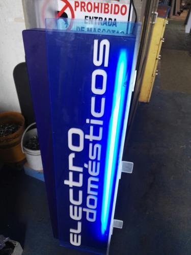 aviso acrilico doble cara electrodomésticos luz funcional