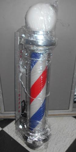 aviso barberia peluqueria luminoso circular
