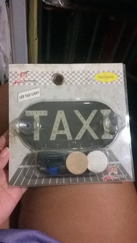 aviso con luces led  de taxi