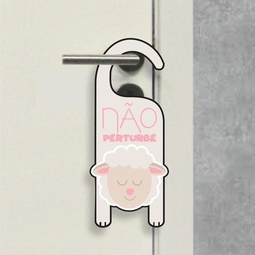 aviso de porta - não perturbe ovelhinha