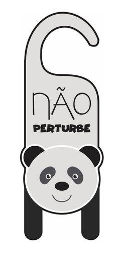 aviso de porta - não perturbe panda