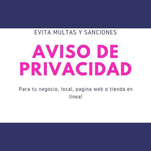 aviso de privacidad personalizado